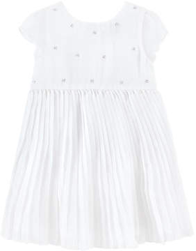 3 Pommes Pleated dress