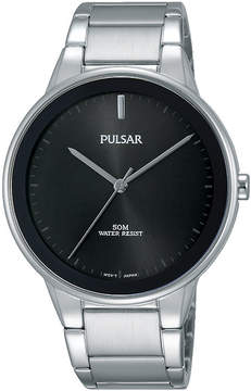 Pulsar Mens Silver Tone Bracelet Watch-Pg2043