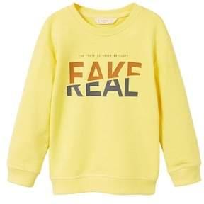MANGO Printed message sweatshirt