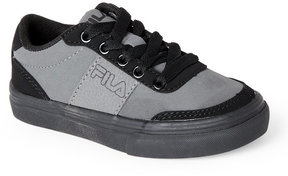 Fila Toddler/Kids Boys) Pewter & Black G1000 Low Top Sneakers