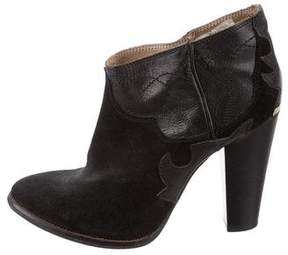 Just Cavalli Suede Pointed-Toe Booties