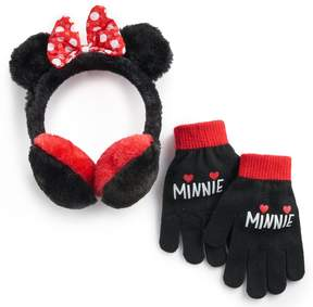 Disney Disney's Minnie Mouse Girls 4-16 Faux-Fur Ear Muffs & Gloves Set