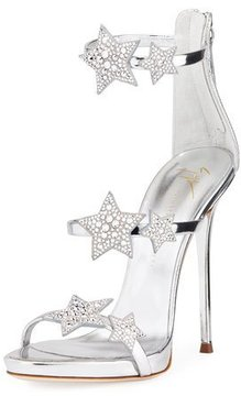 Giuseppe Zanotti Metallic Leather Star Sandal
