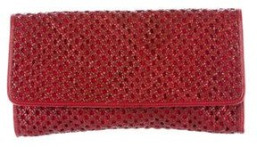 Cole Haan Woven Leather Flap Clutch