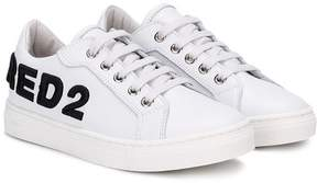 DSQUARED2 logo embroidered low top sneakers