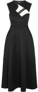 Calvin Klein Cutout Wool-twill Midi Dress - Black