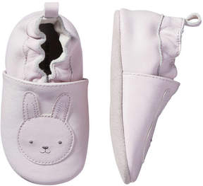 Joe Fresh Baby Girls' Bunny Print Leather Slip Ons, Lilac (Size L)