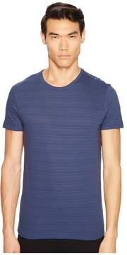 ATM Anthony Thomas Melillo Jacquard Stripe Crew Neck Tee Men's T Shirt