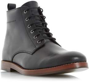 Dune London CAMBELL - BLACK Leather Lace Up Boot