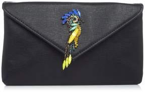 La Regale Embellished Bird Clutch