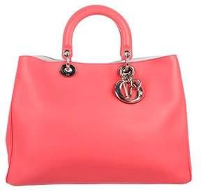 Christian Dior Leather Diorissimo Shopping Tote