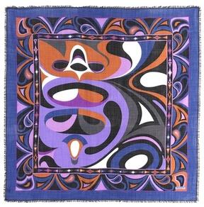 Emilio Pucci Printed wool and silk scarf