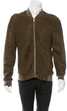 Marc Jacobs Suede Fur-Lined Jacket