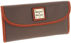Dooney & Bourke As Is Pebble Leather Continental Clutch Wallet - ONE COLOR - STYLE