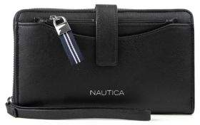 Nautica Plain Sailing Zip-Around Wallet with RFID Wristlet