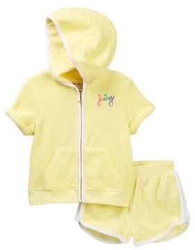 Juicy Couture Yellow Viva La Juicy Terry Hoodie & Short Set (Big Girls)