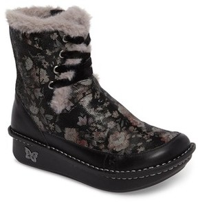 Alegria Women's Twisp Lace-Up Boot With Faux Fur Lining