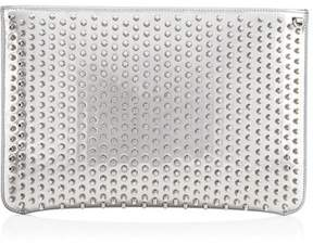 Christian Louboutin Women's Silver Leather Clutch.