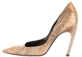 Roger Vivier Python Pointed-Toe Pumps