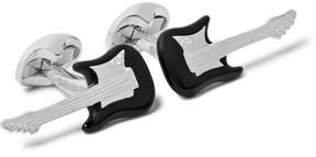 Deakin & Francis Guitar Enamelled Sterling Silver Cufflinks