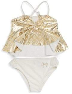 Juicy Couture Little Girl's Two-Piece Printed Ruffle Bikini