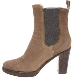 Brunello Cucinelli Distressed Ankle Boots