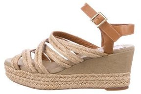Tory Burch Multistrap Espadrille Wedge Sandals