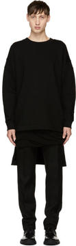 Balmain Black Oversized Wool Pullover