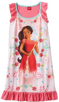 Disney Disney's Elena of Avalor Girls 4-8 Floral Dorm Nightgown