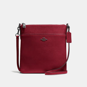 COACH Coach Messenger Crossbody - DARK GUNMETAL/CHERRY - STYLE