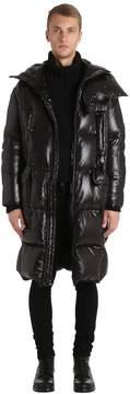 Bikkembergs Oversized Laque Nylon Down Jacket