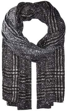 MICHAEL Michael Kors Plaid Tweed Oblong Scarves