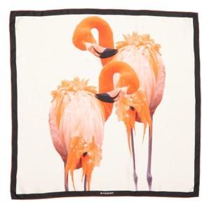 Women's Givenchy Flamingos Silk Scarf