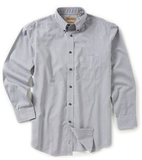 Roundtree & Yorke Gold Label Non-Iron Long-Sleeve Check Sportshirt
