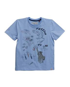 Sovereign Code Freedom Graphic Short-Sleeve Tee, Sky, Size 4-6X