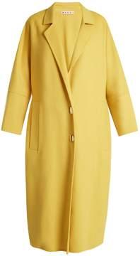 MARNI Oversized notch-lapel wool-blend coat