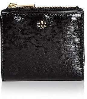Tory Burch Robinson Mini Patent Leather Wallet - BLACK/GOLD - STYLE