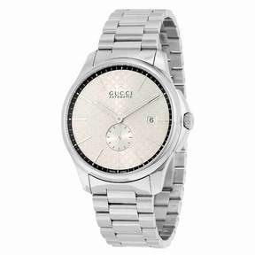 Gucci G-Timeless Automatic Silver Dial Men's Watch YA126320