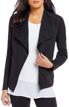 Allison Daley Petites Wing Collar Open Front Jacket