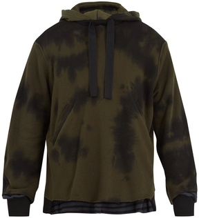 Longjourney Tie-dye cotton-jersey hooded sweatshirt