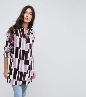 Noisy May Tall Graphic Print Shirt Dress