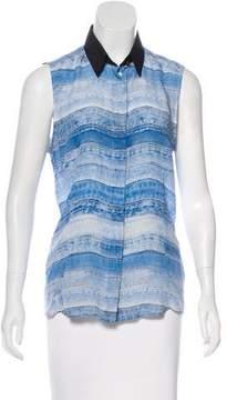 Barbara Bui Printed Silk Top