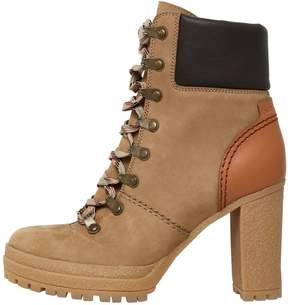 See by Chloe 100mm Suede Lace Up Boots