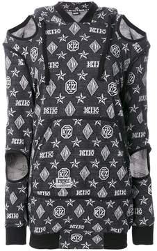 Kokon To Zai logo embroidered sweater dress