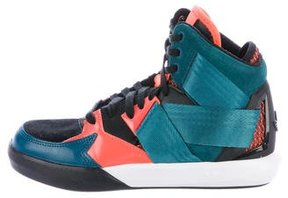 adidas Boys' High-Top Round-Toe Sneakers