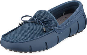Swims Mesh & Rubber Braided-Lace Boat Shoe Driver