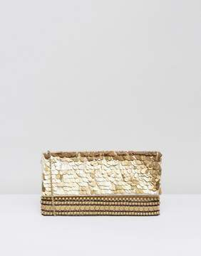 Park Lane Embellished Foldover Clutch Bag