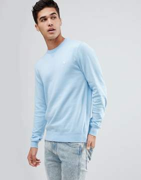 Jack Wills Seabourne Classic Crew Neck Sweater In Light Blue