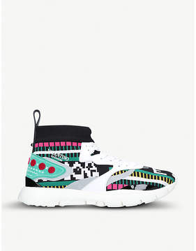 Valentino Heroes embroidery leather trainers