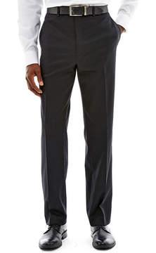 Claiborne Black Solid Flat-Front Suit Pants